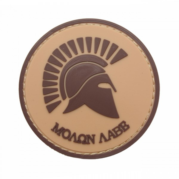 Pitchfork Molon Labe Patch - Tan