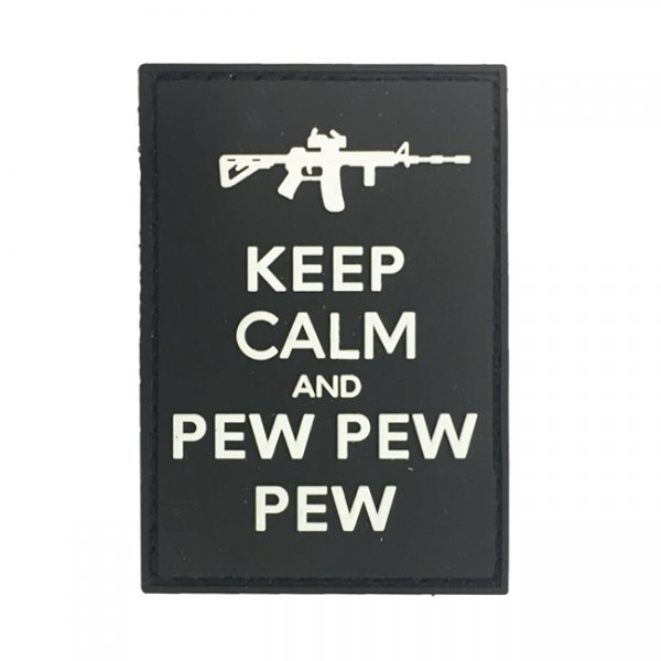 Pitchfork Keep Calm Pew Patch - Black