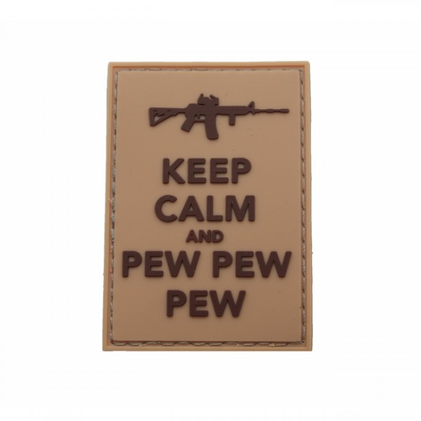 Pitchfork Keep Calm Pew Patch - Tan
