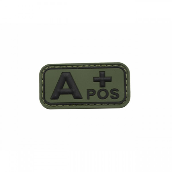 Pitchfork Blood Type A POS Patch - Olive