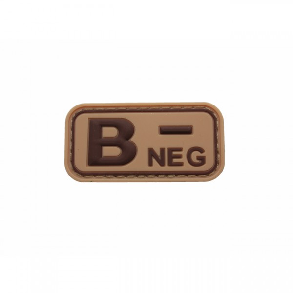 Pitchfork Blood Type B NEG Patch - Tan