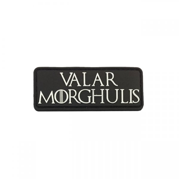 Pitchfork Valar Morghulis Patch - Black