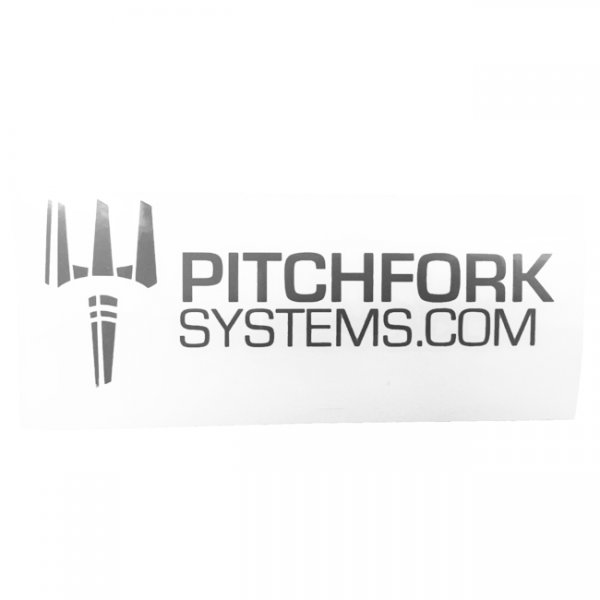 Pitchfork The Brand Sticker Large - Urban Grey