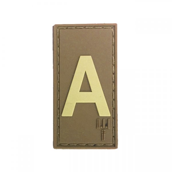 Pitchfork Letter A Patch - Tan