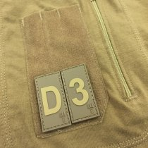 Pitchfork Letter B Patch - Tan