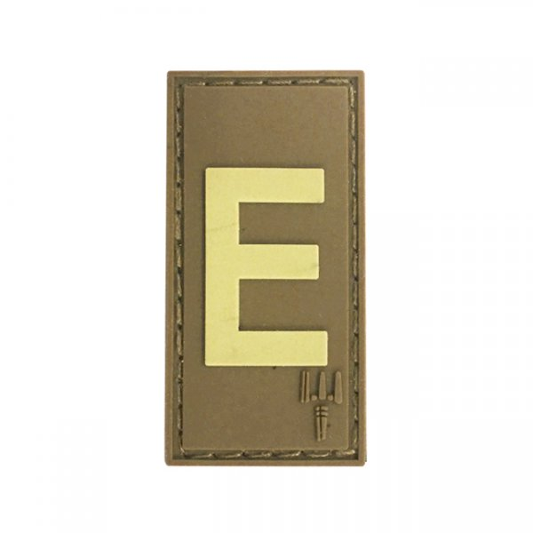 Pitchfork Letter E Patch - Tan