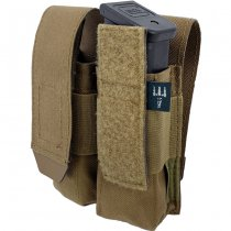 Pitchfork Closed Double Pistol Magazine Pouch - Coyote