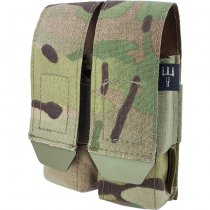 Pitchfork Closed Double Pistol Magazine Pouch - Multicam