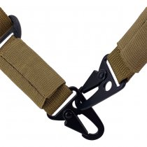 Pitchfork Padded Heavy Duty Two Point Sling - Coyote
