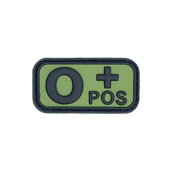 Pitchfork Blood Type O POS Patch - Green