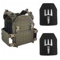 Pitchfork MPC Modular Plate Carrier NIJ Level IV Package - Ranger Green