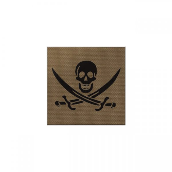 Pitchfork Calico Jack IR Square Print Patch - Coyote