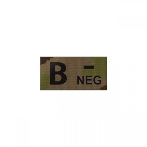 Pitchfork B NEG Blood Type IR Patch - SwissCamo
