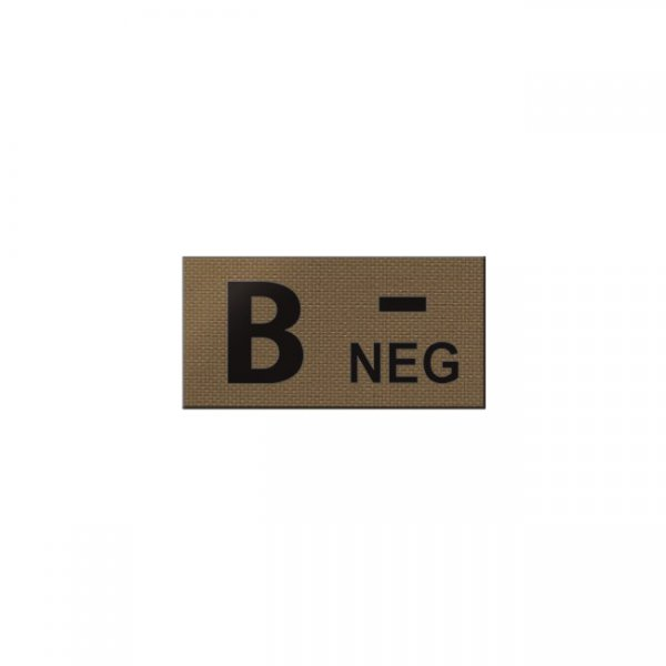 Pitchfork B NEG Blood Type IR Patch - Coyote