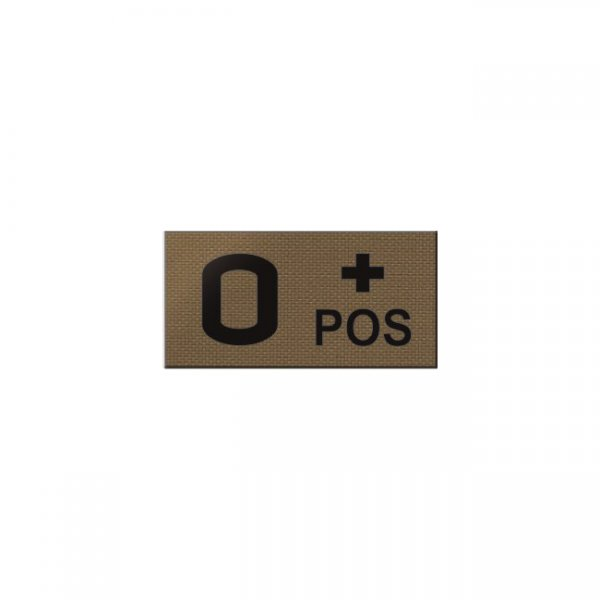 Pitchfork O POS Blood Type IR Patch - Coyote