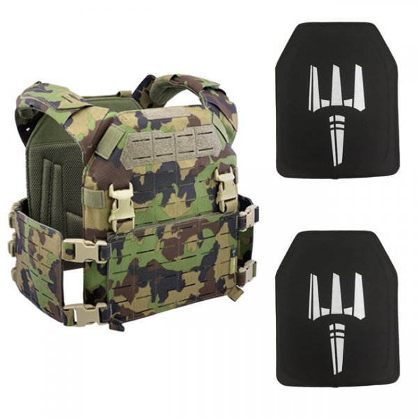 Pitchfork MPC Modular Plate Carrier NIJ Level IV Package - SwissCamo