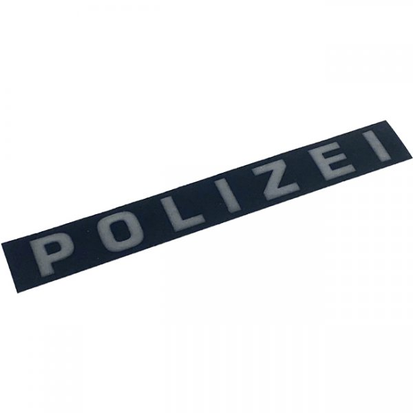 Pitchfork POLIZEI Reflective Face Shield Sticker - Black